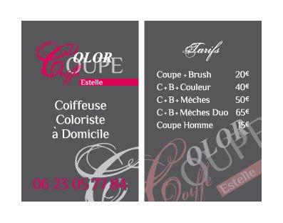 Carte De Visite Coiffure A Domicile