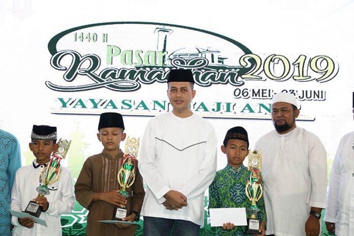Wagubsu Musa Rajeckshah di acara penutupan Gebyar Ramadan dan Pasar Ramadan Yayasan Haji Anif Tahun 2019.