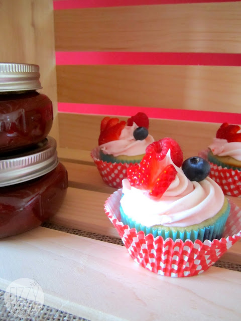 Father's Day Triple Berry Cupcakes