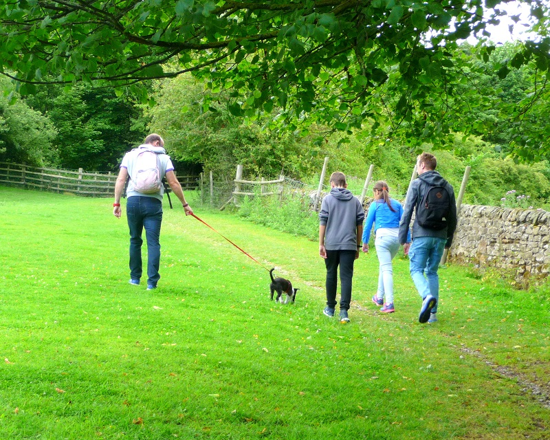 Family day out in Bakewell