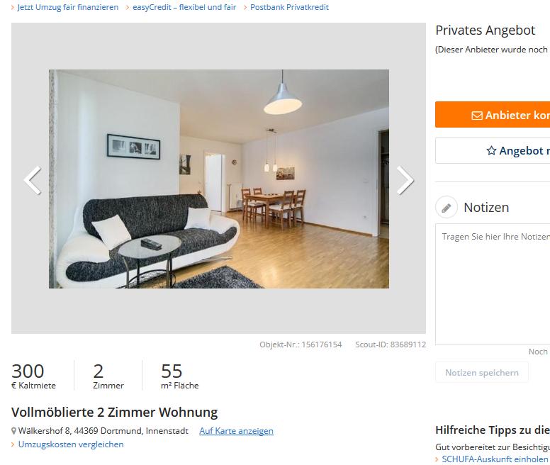 wohnungsbetrugblogspotcom Vollmblierte 2 Zimmer Wohnung Wlkershof 8 44369 Dortmund