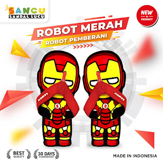 sancu robot merah lucu