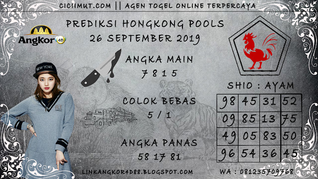PREDIKSI HONGKONG POOLS 26 SEPTEMBER 2019