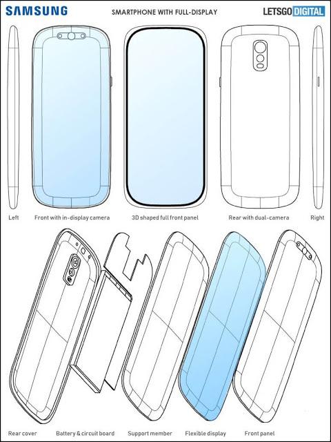 يمكن أن يصل سامسونغ غالاكسي S11 بشاشة ثلاثية الأبعاد منحنية ، وفقًا لبراءة الاختراع الجديدة