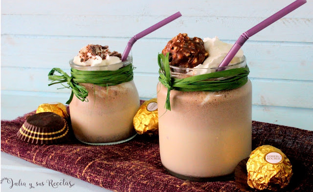 Batido de Ferrero Rocher y helado de vainilla. Julia y sus recetas