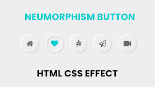 Neumorphism Button UI Design | Pure CSS Effect