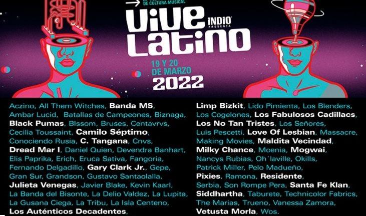 Vive Latino Festival 2022 Cartel y Boletos