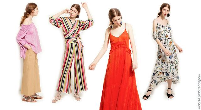 Moda primavera verano 2018: Looks estilo casual elegante Carmela Achaval primavera verano 2018.