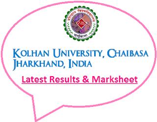 Kolhan University Final Year Result 2021