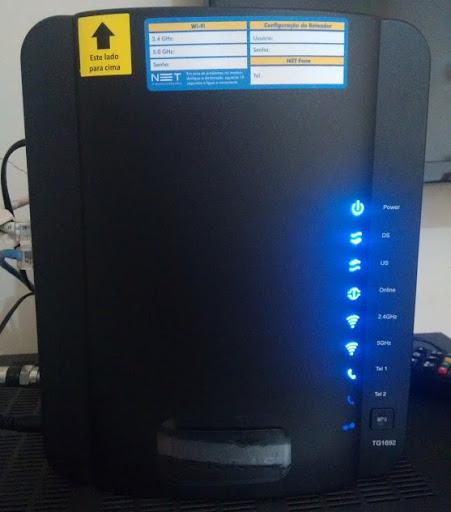 Modem/Roteador Arris TG1692A