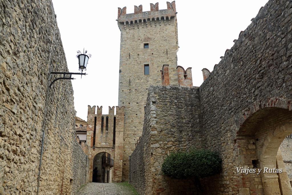 Puerta de entrada a Vigoleno