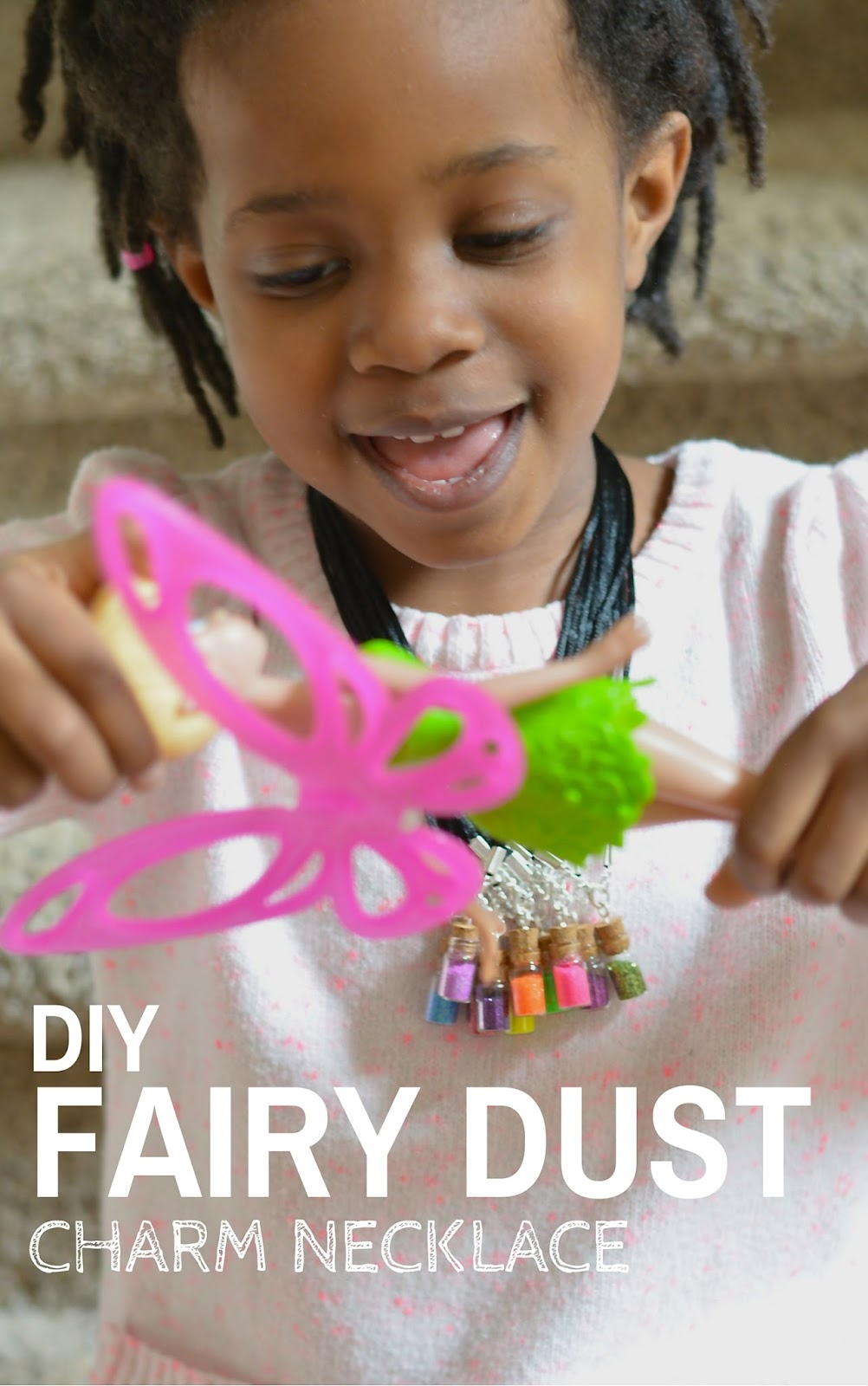 diy fairy dust charm necklace #shop