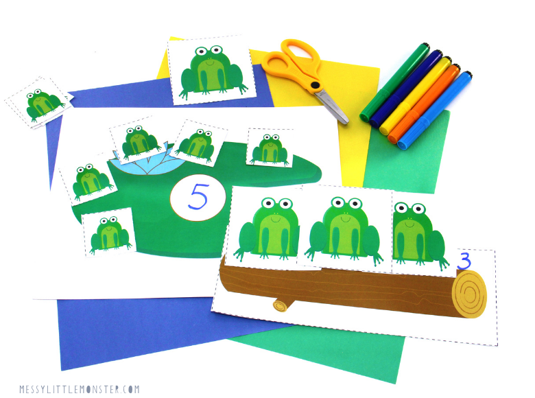 Frog activity for toddlers and preschoolers