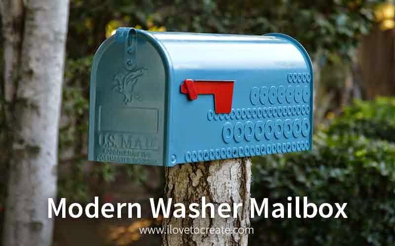 Modern Washer Mailbox Diy Ilovetocreate