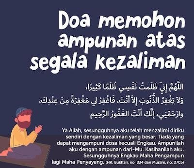 Doa Memohon Ampunan Atas Segala Kezaliman