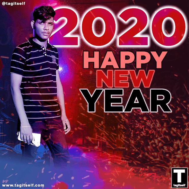 happy new year 2020 by Mangat Singh