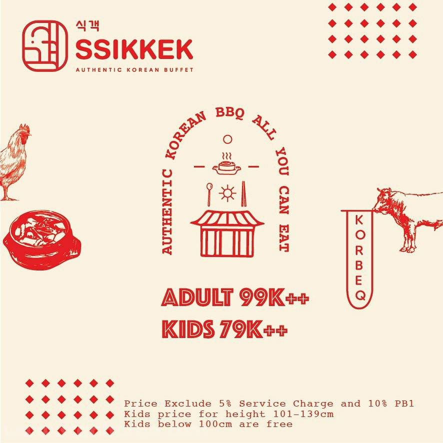 Promo SSIKKEK Authentic Korean BBQ All You Can Eat harga cuma Rp. 99.000,-