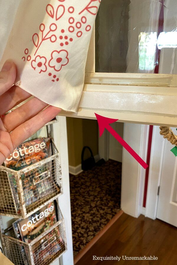 Removing Old Fabric From Cabinet