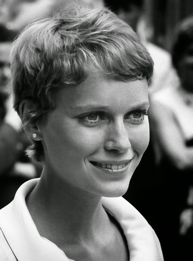 30 Beautiful Portraits Of Mia Farrow With Pixie Haircut In