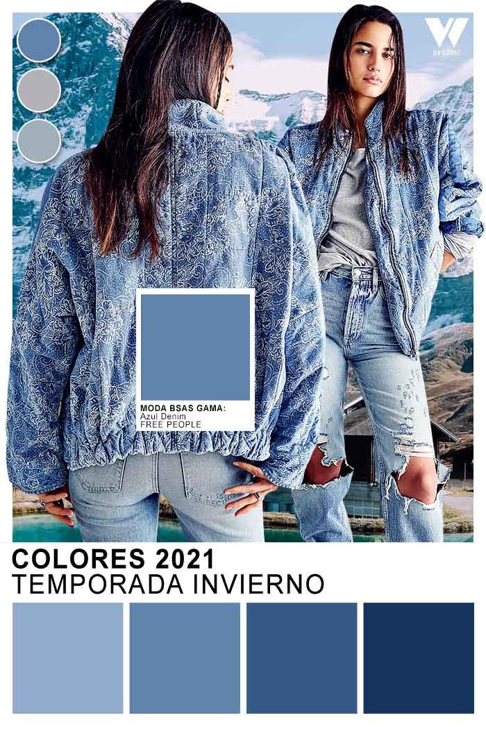 Azul denim moda invierno 2021 moda colores 2021
