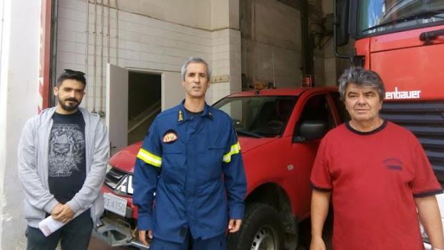 Στελέχη του ΚΚΕ περιόδευσαν σε Πυροσβεστικές Υπηρεσίες και Σταθμούς της περιφέρειας Πελοποννήσου