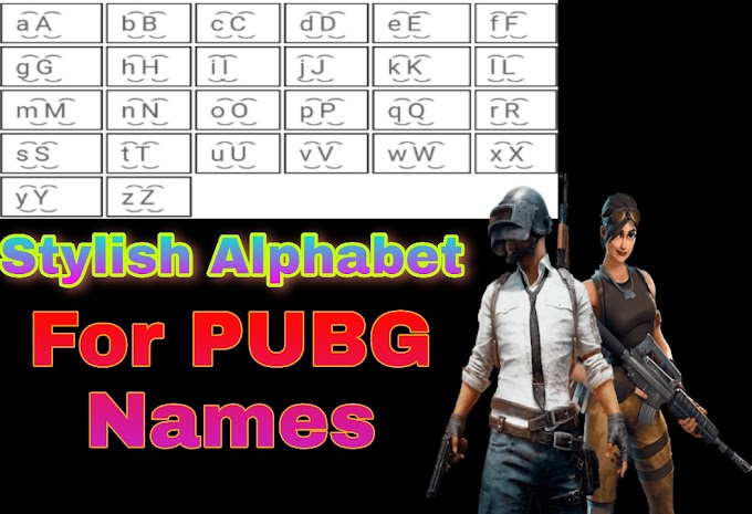 Stylish Alphabets For PUBG Names | Cool Fonts For PUBG Names in 2020 - Sidtalk.xyz