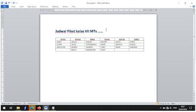 Membuat Jadwal Piket di Ms Word