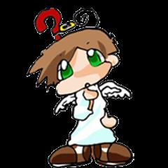 Angel's amusing Sticker