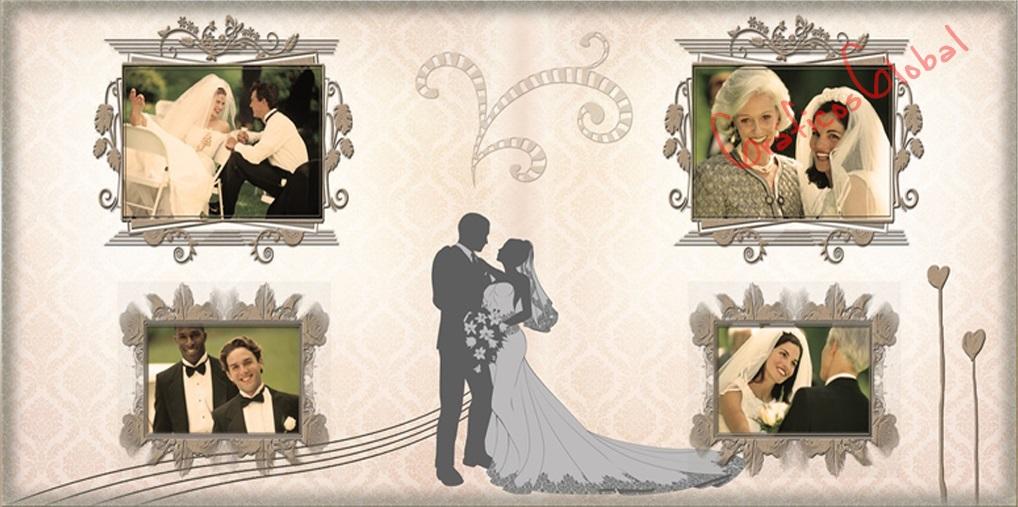 Plantillas psd para crear FotoAlbum bodas No2