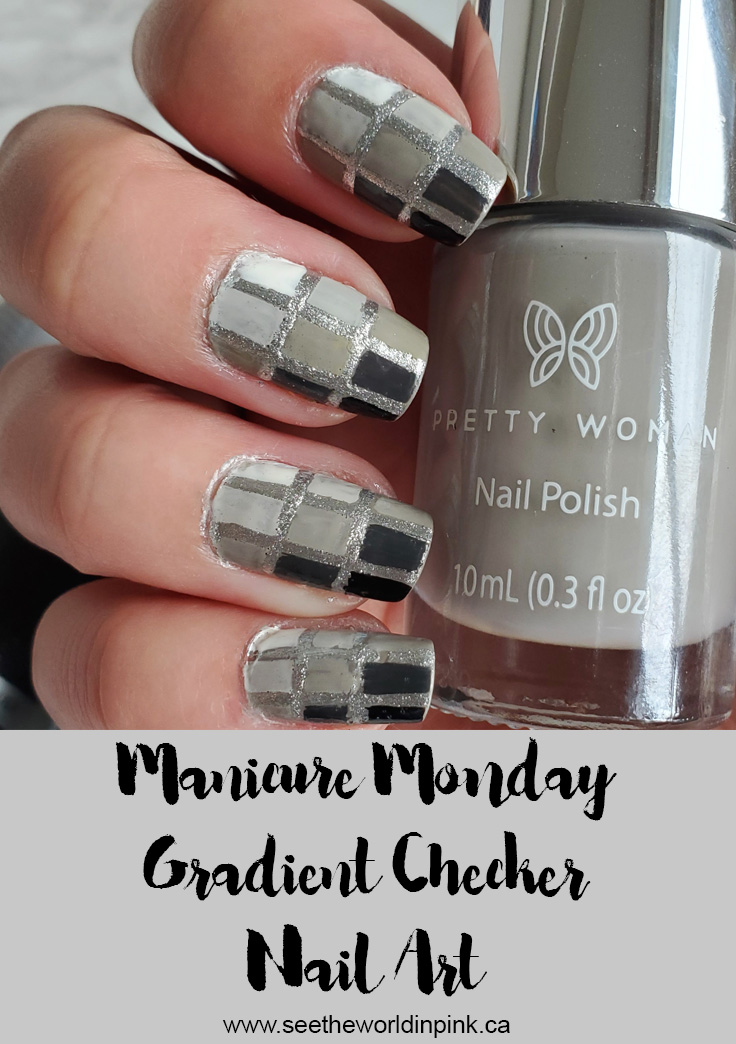 Manicure Monday - Gradient Checker Nails