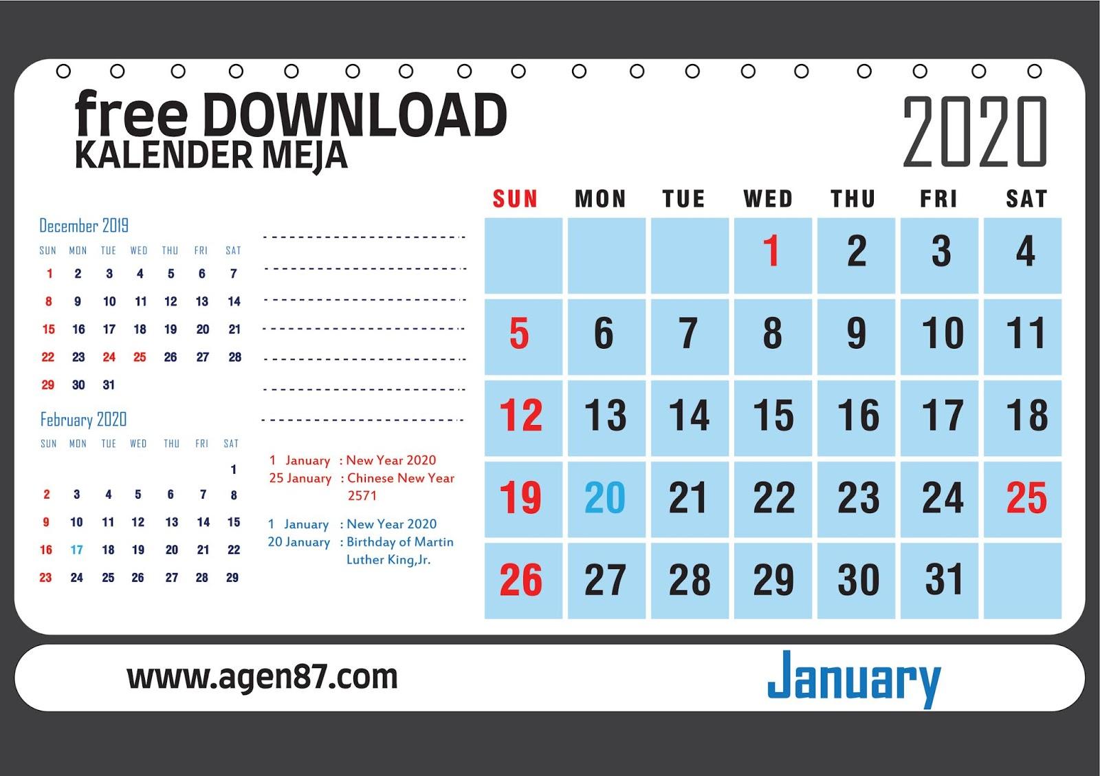 Template Desain Kalender Duduk - Contoh Gambar Template