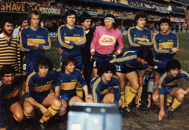 Football teams shirt and kits Boca Juniors 1981