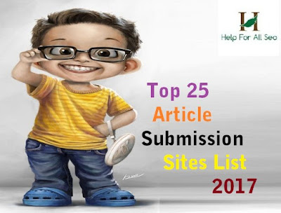 Article Submission sites lists 2017