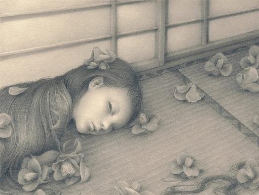 by Ozabu, ぼとり (Botori), 2019 | imagenes dibujos de mujeres a lapiz | soledad, tristeza, depresion femenina | deep emotional sad woman art