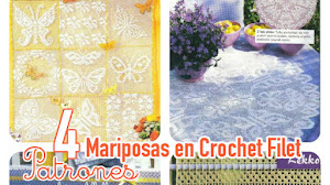 Mariposas en tu cocina / 4 patrones para mantel y cortinas