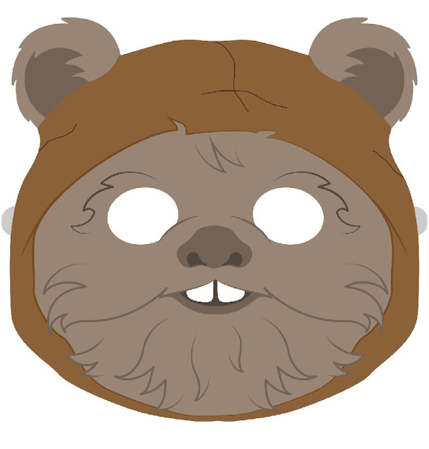 Ewok from Stars Wars: Free Printable Mask