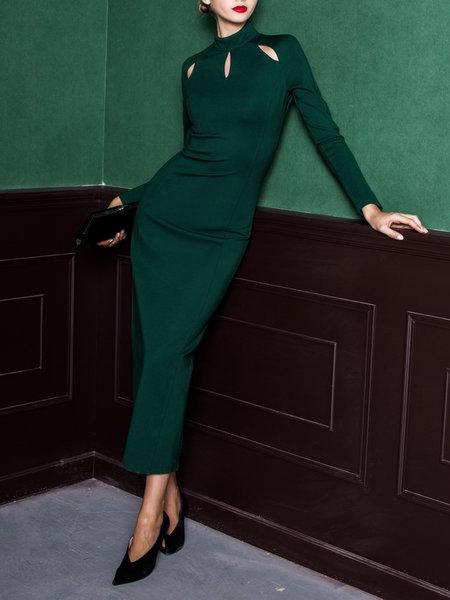 green maxi dress party