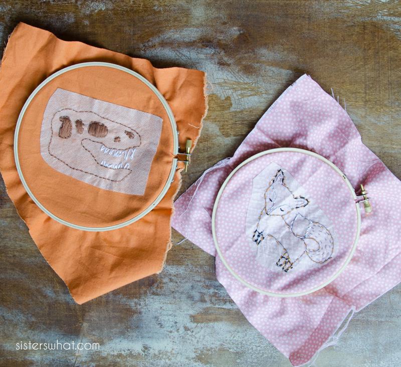 teach kids embroidery free pattern