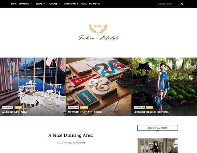 Lifestyle - Responsive Blogger Template - Fashion Blogging