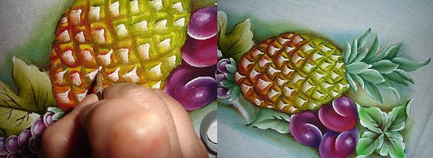 pintura em tecido abacaxi passo a passo como pintar