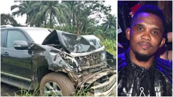 Samuel Eto'o involved in car crash, suffers head injury