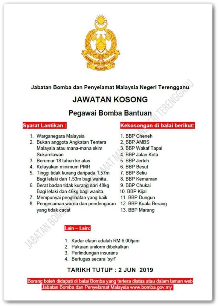 Jabatan Bomba Dan Penyelamat Malaysia Negeri Terengganu