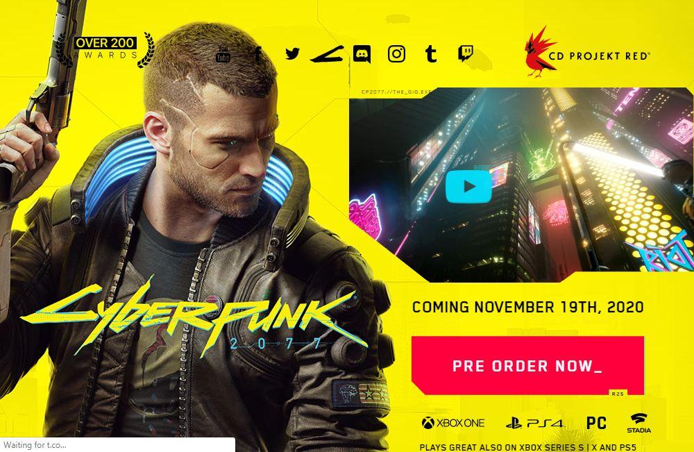 Cyberpunk 2077 will launch on november 19