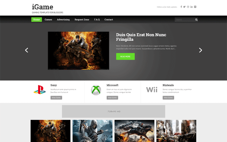 iGame Free Blogger Template