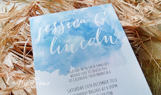 Watercolour and Calligraphy Style Wedding Invitation Cards Malaysia