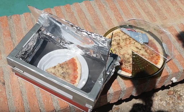 horno, solar, casero, cocinar, pizza