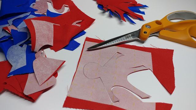Paper chain quilt block