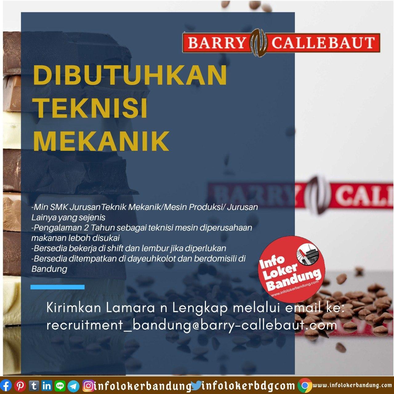 Lowongan Kerja Barry Callebaut Bandung Mei 2020