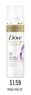Dove Dry Shampoo for Oily Hair Volume & Fullness for Refreshed Hair