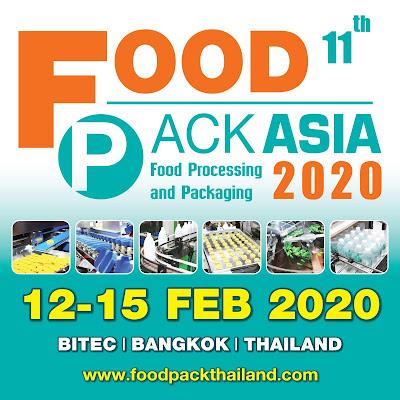 FOOD PACK ASIA 2020 งานแสดงเทคโนโลยีเครื่องจักรสำหรับอุตสาหกรรมอาหาร-เครื่องดื่มและบรรจุภัณฑ์นานาชาติครั้งที่ 11